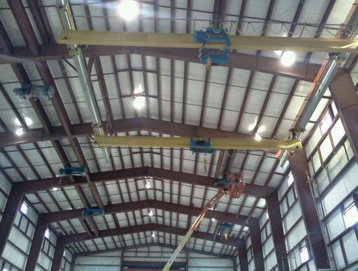 twin hoists in factory