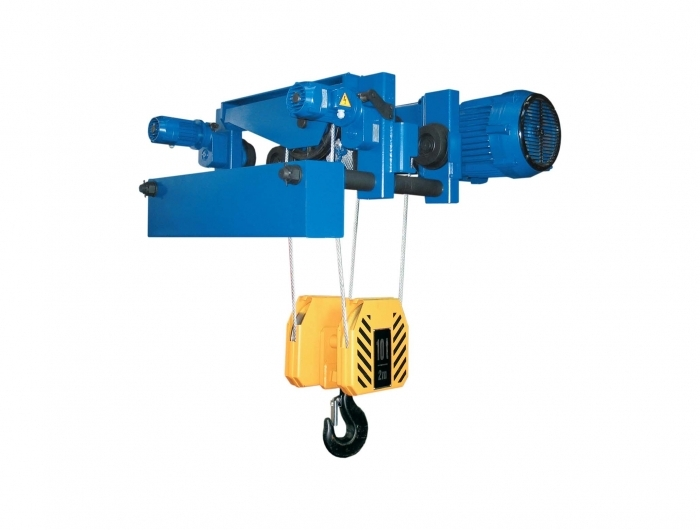 low headroom wire rope hoist CVAT on white background