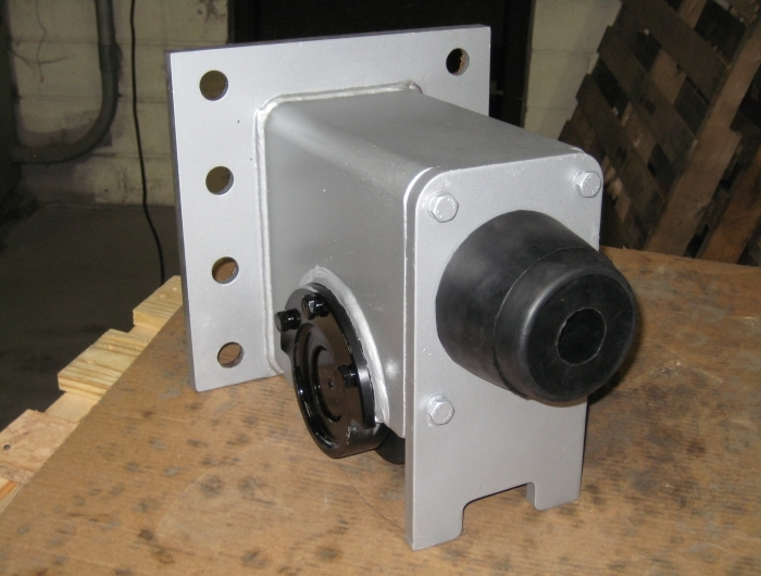 front view of top running plain non-motorized wheel block